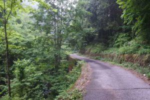 大岳山入り口までの道
