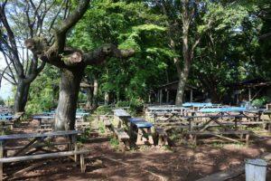 茶屋の休憩所