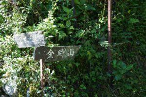 金時山への道
